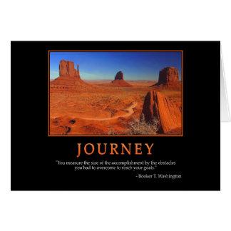 Tarjeta de felicitación del viaje