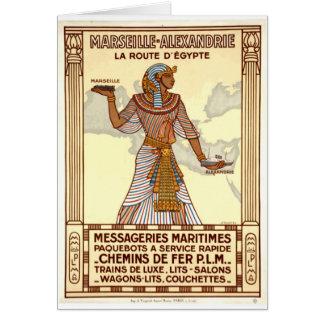 Tarjeta de felicitación del viaje de Egipto del