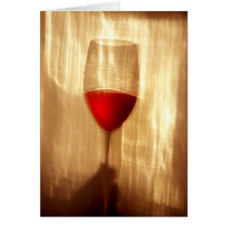Tarjeta de felicitación del vino