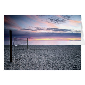 Tarjeta de felicitación del voleibol de playa de l