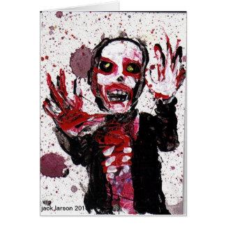 Tarjeta de felicitación del zombi   Jack Larson