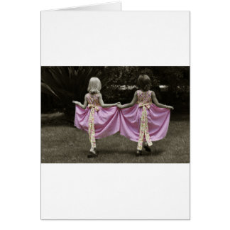 Tarjeta de felicitación delicada de los chicas
