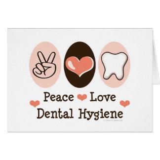 Tarjeta de felicitación dental de la higiene del a