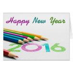 Tarjeta de felicitación dibujo - nuevo año 2016