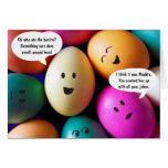 Tarjeta de felicitación divertida de los huevos de