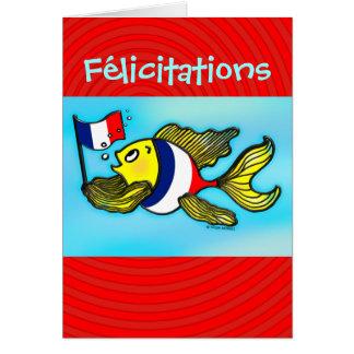 Tarjeta de felicitación divertida de los pescados