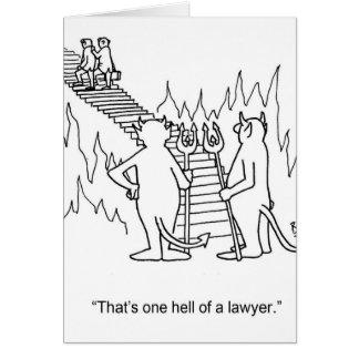 Tarjeta de felicitación divertida del abogado