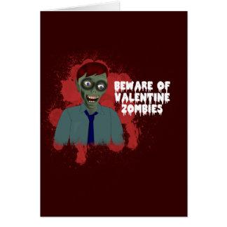 Tarjeta de felicitación divertida del amor del zom