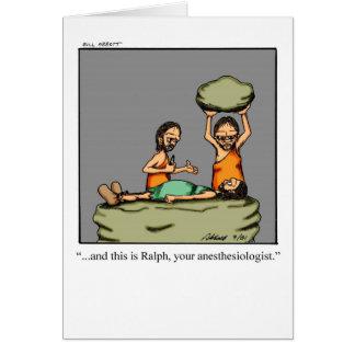 Tarjeta de felicitación divertida del Anesthesiolo