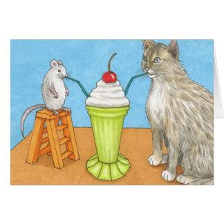 Tarjeta de felicitación divertida del gato 365