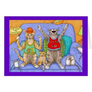 Tarjeta de felicitación divertida del gato 369