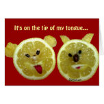 Tarjeta de felicitación divertida del limón
