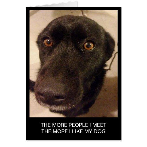 Tarjeta de felicitación divertida del perro