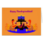 Tarjeta de felicitación divertida feliz de Thanksg