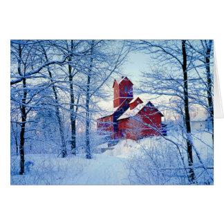 TARJETA de FELICITACIÓN   el molino rojo viejo