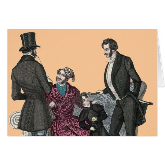 Tarjeta de felicitación elegante de los caballeros