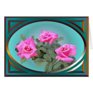 Tarjeta de felicitación elegante de los rosas