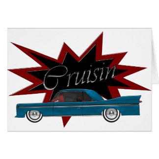 Tarjeta de felicitación en blanco azul de Cruisin