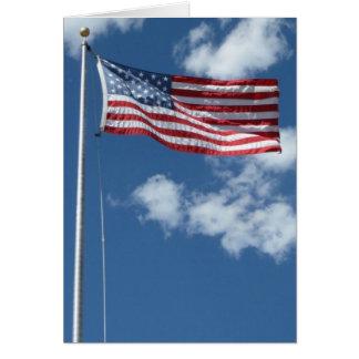 Tarjeta de felicitación en blanco de la bandera am