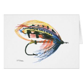 Tarjeta de felicitación en blanco de la pesca con