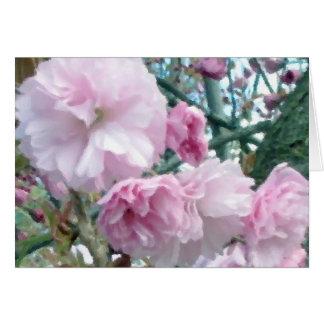 Tarjeta de felicitación en blanco de las flores de