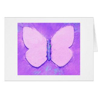 Tarjeta de felicitación en blanco de las mariposas