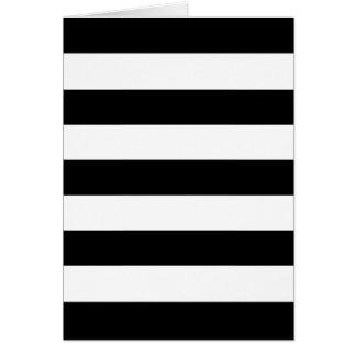 Tarjeta de felicitación en blanco de las rayas anc