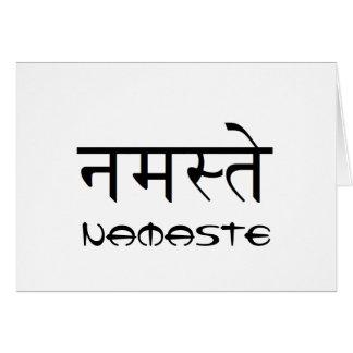 Tarjeta de felicitación en blanco de Namaste