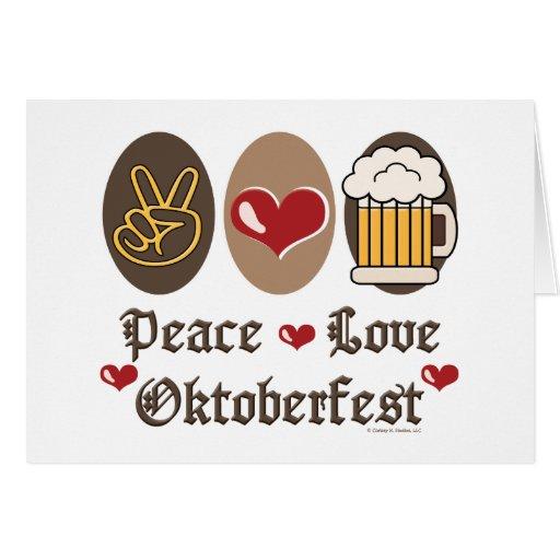 Tarjeta de felicitación en blanco de Oktoberfest d