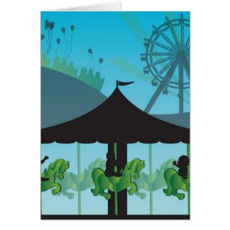 Tarjeta de felicitación en blanco del carnaval