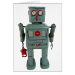 Tarjeta de felicitación en blanco del robot
