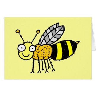 Tarjeta de felicitación enrrollada de la abeja de