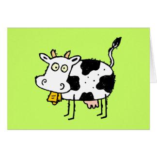 Tarjeta de felicitación enrrollada de la vaca de l