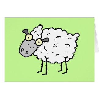 Tarjeta de felicitación enrrollada de las ovejas d