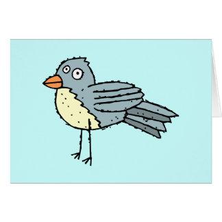 Tarjeta de felicitación enrrollada del pájaro de l
