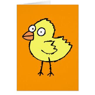 Tarjeta de felicitación enrrollada del polluelo de