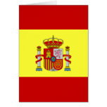 Tarjeta de felicitación española de Bandera