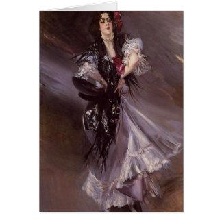 Tarjeta de felicitación española del bailarín
