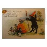 Tarjeta de felicitación espantosa de Halloween de