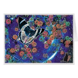 Tarjeta de felicitación estelar de las floraciones