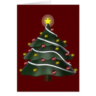 tarjeta de felicitación Estrella-rematada del árbo