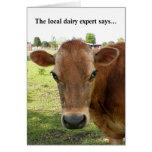 Tarjeta de felicitación experta de la lechería