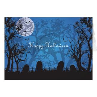 Tarjeta de felicitación fantasmagórica de Hallowee