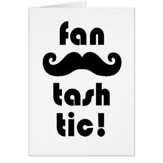 Tarjeta de felicitación fantástica del bigote de