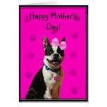 Tarjeta de felicitación feliz de Boston Terrier de