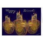 Tarjeta de felicitación feliz de Diwali