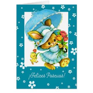 Tarjeta de felicitación feliz de Felices Pascuas.S