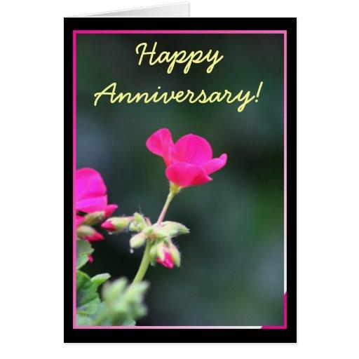 Tarjeta de felicitación feliz de Geranimum del ani