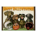 Tarjeta de felicitación feliz de Halloweiners