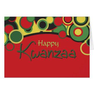 Tarjeta de felicitación feliz de Kwanzaa